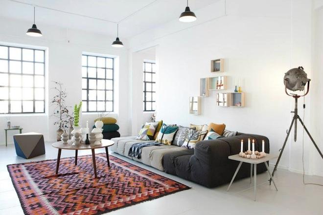 woonkamer ferm living stijl