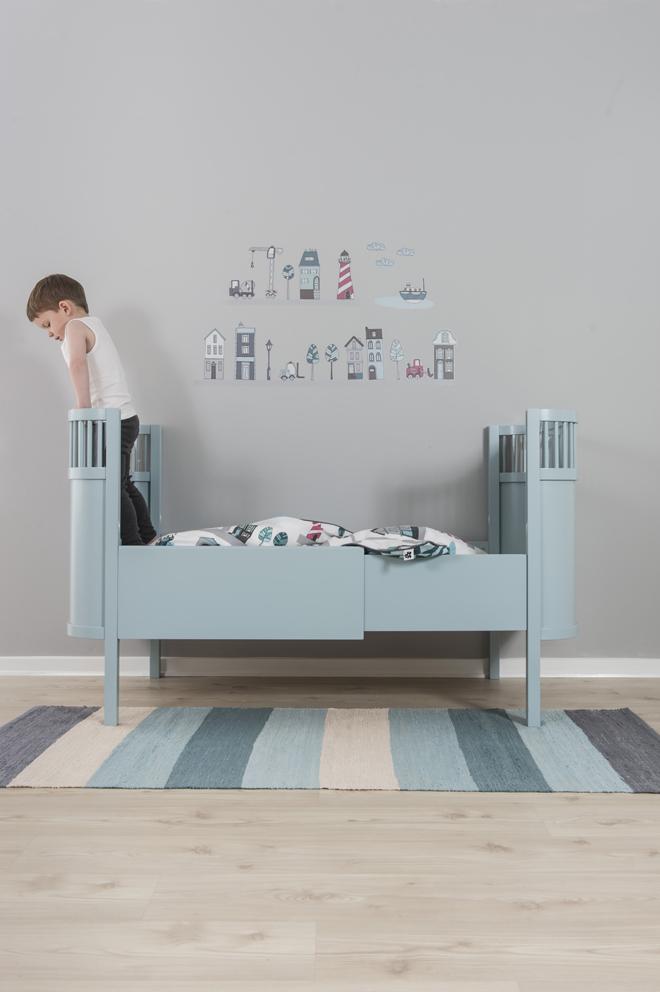 tof blauw baby bed